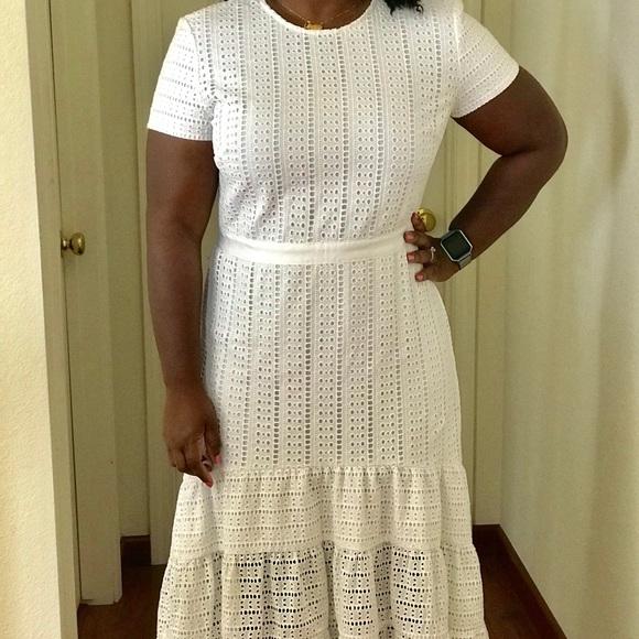 d77223d2e7 Banana Republic White Eyelet Dress Size 14 NEW